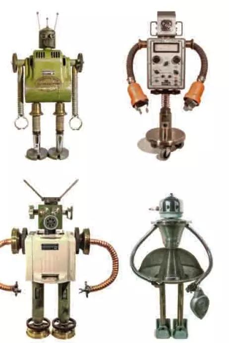 通过磁鼓上的程序控制,机器人可依赖液压缸调整机械臂的位置,到达一系图片